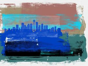 Seattle Abstract Skyline II by Emma Moore