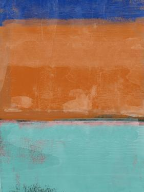 Teal and Orange Abstract Study by Emma Moore