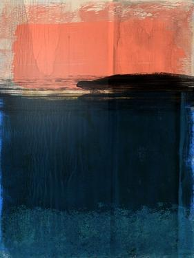Tiger Orange and Blue Abstract Study by Emma Moore