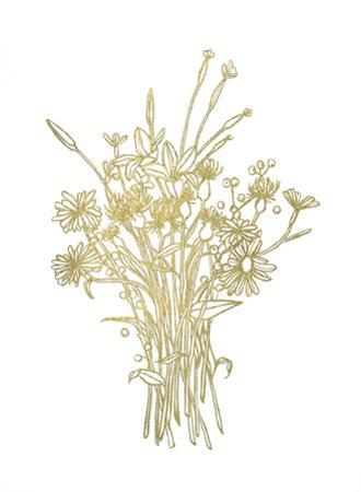 Gold Foil Bouquet I by Emma Scarvey