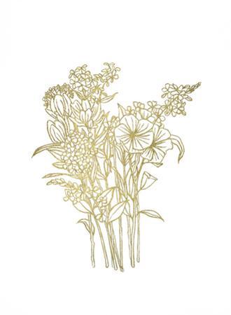 Gold Foil Bouquet II by Emma Scarvey