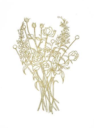 Gold Foil Bouquet III by Emma Scarvey
