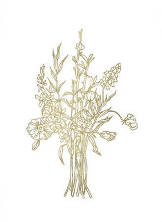 Gold Foil Bouquet IV by Emma Scarvey