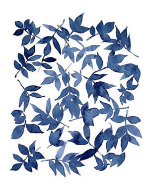 Indigo Fallen Leaves I by Emma Scarvey