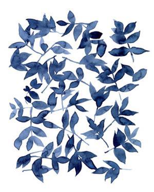 Indigo Fallen Leaves II by Emma Scarvey