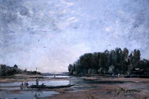 Fishing Boats on the Loire, 1865 by Emmanuel Lansyer