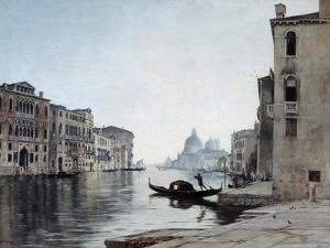 Gondola on the Grand Canal, 1892 by Emmanuel Lansyer