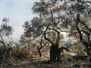 Lodola, Close to Menton, 1892 by Emmanuel Lansyer