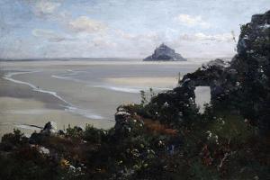 Mont Saint Michel, 1881 by Emmanuel Lansyer