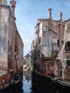 Surroundings of the Church San Sebastian, Venice, 1892 by Emmanuel Lansyer
