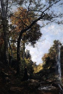 The Autumn Walk, 1869 by Emmanuel Lansyer