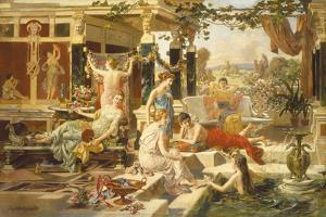 The Roman Bath by Emmanuel Oberhausen