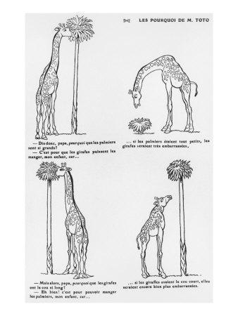 Les Pourquoi De Monsieur Toto', Caricature of Darwin's Theory of Evolution, C.1900