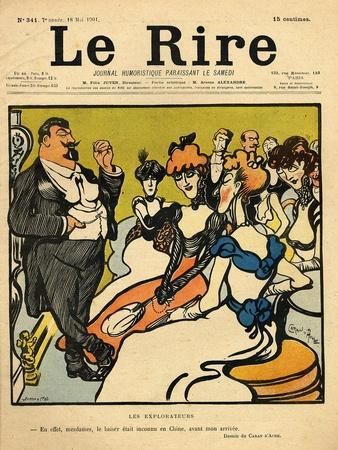 The Explorers, from the Front Cover of 'Le Rire', 18th May 1901