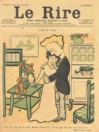 True Love, from the Front Cover of 'Le Rire', 29th July 1899
