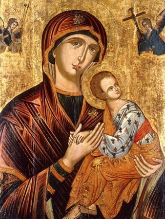 A Cretan Icon of the Mother of God of the Passion