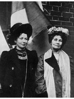 Emmeline Pankhurst, British Suffragette, and Her Daughter Christabel, Early 20th Century