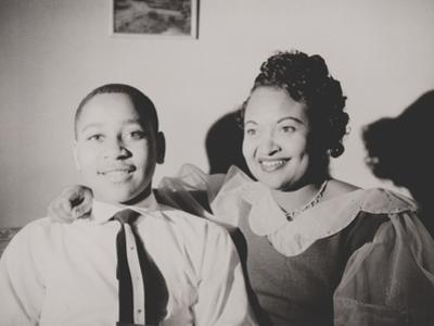 Emmett Till with His Mother, Mamie Bradley, Ca. 1950