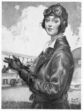 Girl Dressed for the Air by Emmett Watson