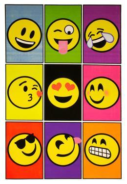 Emoji Nine Blacklight Poster