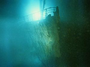 Bow Railing of R.M.S. Titanic by Emory Kristof