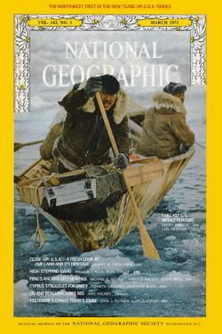 Cover of the March, 1973 National Geographic Magazine by Emory Kristof