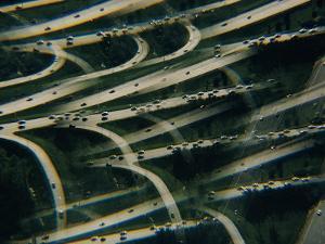 Rush Hour Traffic Leaving Washington for the Maryland Suburbs by Emory Kristof