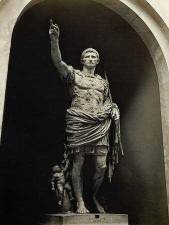 Emperor Augustus in Military Dress, Marble Figure from the Prima Porta