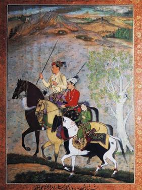 Emperor Shah Jahan's Three Sons, Mughal School, Tempera, India, 17th Century