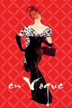 En Vogue Fashion Illustration in Red