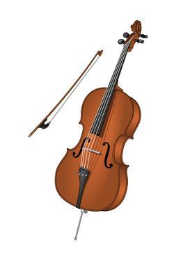 Cello and Bow, Stringed Instrument, Musical Instrument by Encyclopaedia Britannica