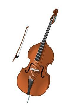 Double Bass and Bow, Stringed Instrument, Musical Instrument by Encyclopaedia Britannica