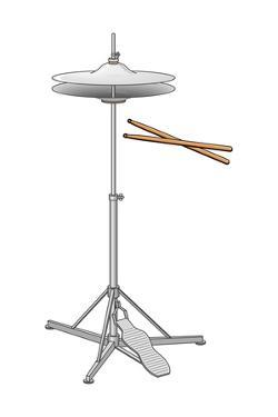 Hi-Hat Cymbals and Drumsticks, Percussion, Musical Instrument by Encyclopaedia Britannica