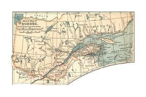 Inset Map of a Sketch Map of Quebec, Showing the Greater Part of the Province. Canada by Encyclopaedia Britannica