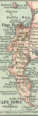 Inset Map of Cape Town and Vicinity. South Africa by Encyclopaedia Britannica