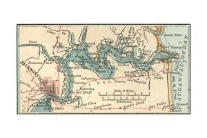 Inset Map of Jacksonville, Florida by Encyclopaedia Britannica
