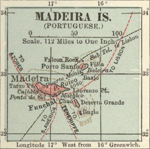 Inset Map of Madeira Island (Portuguese) by Encyclopaedia Britannica