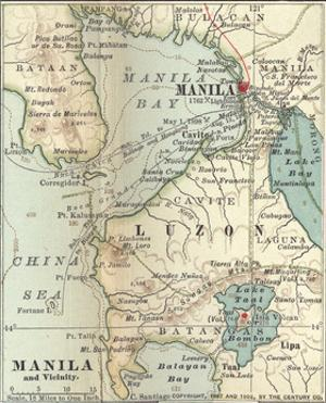 Inset Map of Manila and Vicinity, Philippines by Encyclopaedia Britannica