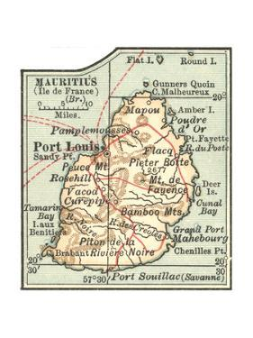 Inset Map of Mauritius (Ile De France) (British) by Encyclopaedia Britannica