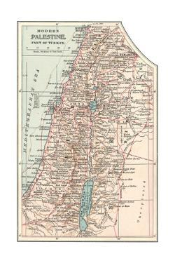 Inset Map of Palestine (Part of Turkey) by Encyclopaedia Britannica