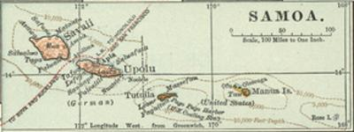 Inset Map of Samoa. South Pacific. Oceania by Encyclopaedia Britannica