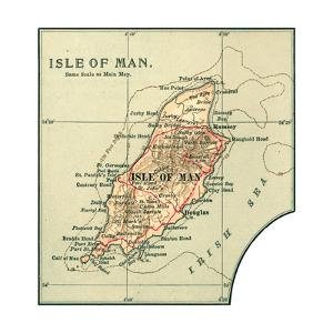 Inset Map of the Isle of Man. United Kingdom by Encyclopaedia Britannica