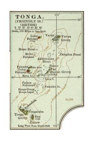 Inset Map of Tonga (Friendly Islands) (British) by Encyclopaedia Britannica