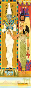 Isis (Right) and Osiris, Egyptian Mythology by Encyclopaedia Britannica