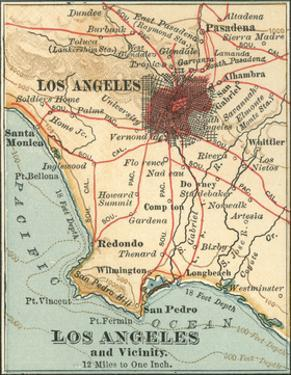Los Angeles and Vicinity (C. 1900), from the 10th Edition of Encyclopaedia Britannica, Maps by Encyclopaedia Britannica