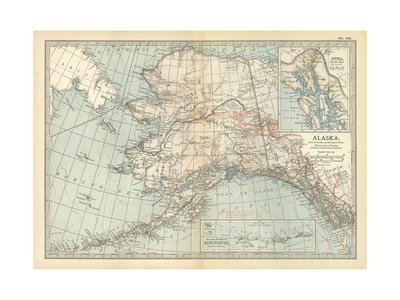 Maps Of Alaska Posters At AllPosterscom - Maps of alaska
