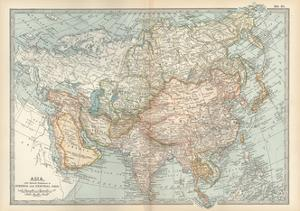 Map of Asia, with Special Reference to Siberia and Central Asia by Encyclopaedia Britannica