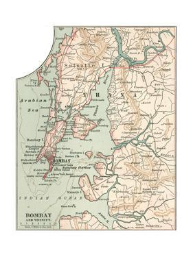 Map of Bombay (C. 1900), Maps by Encyclopaedia Britannica