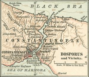 Map of Bosphorus (C. 1900), Maps by Encyclopaedia Britannica