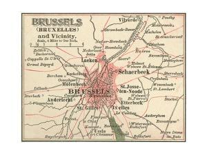 Map of Brussels (C. 1900), Maps by Encyclopaedia Britannica